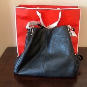 Brand New Black Leather Coach Purse with Tag